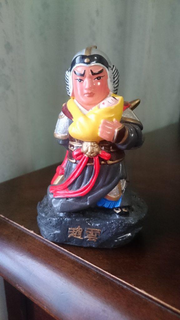 趙雲のフィギュア(陶器)